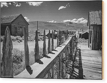 Bodie California Long Dusty Road Wood Print by LeeAnn McLaneGoetz McLaneGoetzStudioLLCcom