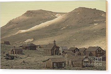 Wood Print featuring the photograph Bodie California by Nick  Boren