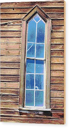 Wood Print featuring the photograph Bodie Church Window by Mary Bedy
