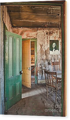 Bodie Doors Wood Print by Alice Cahill