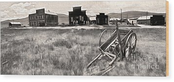 Bodie Ghost Town - 03 Wood Print by Gregory Dyer