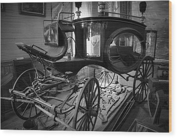Wood Print featuring the photograph Bodie Hearse by Jim Snyder