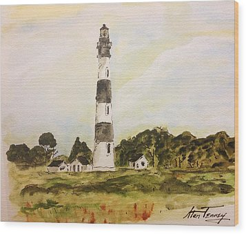 Bodie Island Light Wood Print by Stan Tenney
