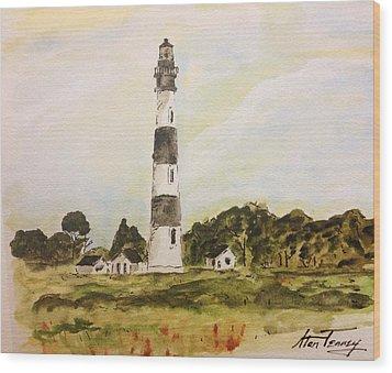 Bodie Island Light Wood Print