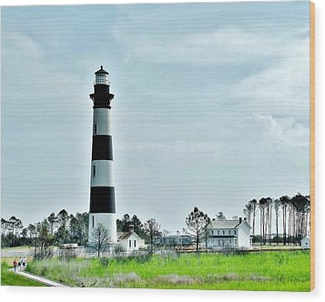 Bodie Island Lighthouse - Outer Banks North Carolina Wood Print by Kim Bemis