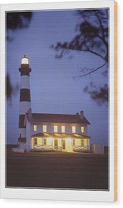 Bodie Light Just After Dark Wood Print by Mike McGlothlen