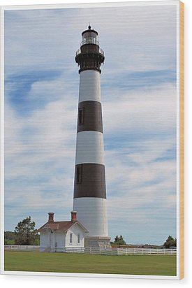 Wood Print featuring the photograph Bodie Lighthouse by Bob Sample