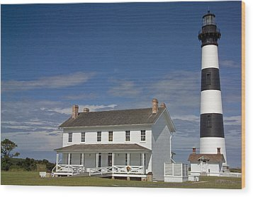 Wood Print featuring the photograph Bodie Lighthouse Obx by Greg Reed