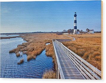 Bodie Lighthouse Outer Banks North Carolina I Wood Print