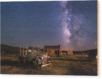 Bodie Nights Wood Print by Cat Connor