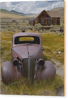 Wood Print featuring the photograph Bodie Rest Stop by Jim Snyder