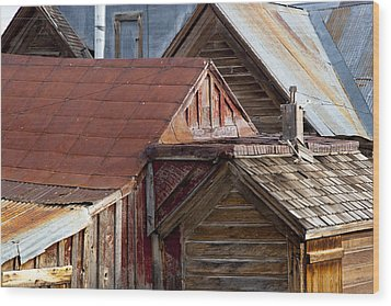 Wood Print featuring the photograph Bodie Rooflines by Jim Snyder