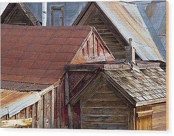 Bodie Rooflines Wood Print