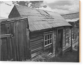 Wood Print featuring the photograph Bodie Row House by Jim Snyder