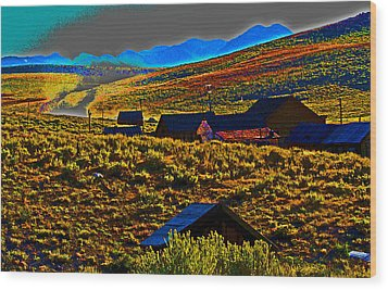 Bodie Sunset Wood Print by Joseph Coulombe