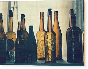 Wood Print featuring the photograph Bodies Bottles by Jim Snyder