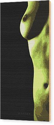 Body Waves 8 Wood Print by Piety Dsilva