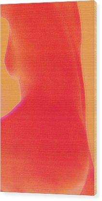 Bodyline 01 Wood Print by Li   van Saathoff