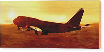 Boeing Beauty Wood Print by Marcello Cicchini