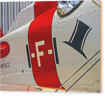 Boeing Fighter 4b-1 -  Close Up Wood Print by Gregory Dyer