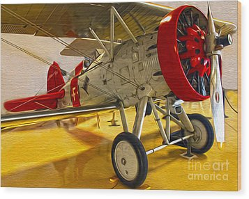 Boeing Fighter 4b-1 - Front Wood Print by Gregory Dyer