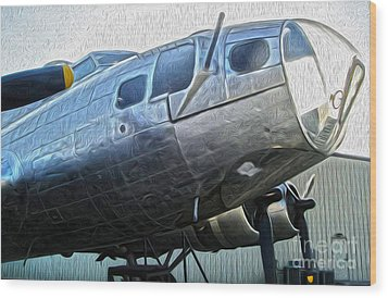 Boeing Flying Fortress B-17g  -  01 Wood Print by Gregory Dyer