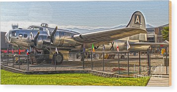 Boeing Flying Fortress B-17g  -  05 Wood Print by Gregory Dyer