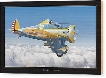 Boeing P-26 Peashooter Wood Print by Larry McManus