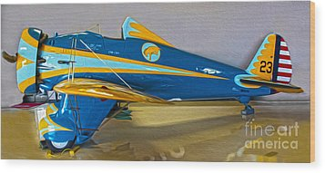 Boeing Peashooter P-26a  -  01 Wood Print by Gregory Dyer