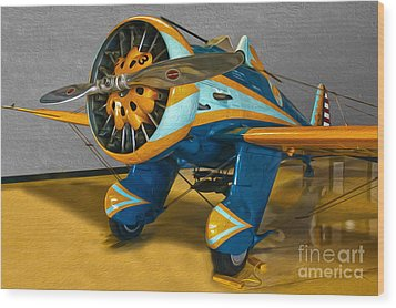Boeing Peashooter P-26a  -  02 Wood Print by Gregory Dyer
