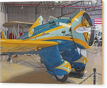 Boeing Peashooter P-26a  -  03 Wood Print by Gregory Dyer