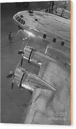 Boeing's Flying Cloud - Monochrome Wood Print by ELDavis Photography