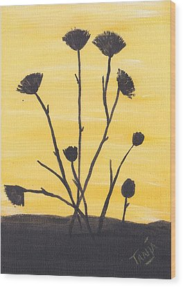 Bog Flower Bouquet Wood Print