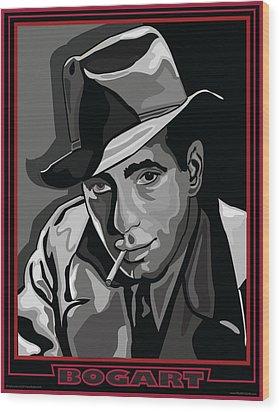 Bogart Wood Print by Larry Butterworth