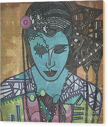 Bohee Woman Wood Print by Amy Sorrell