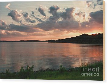 Wood Print featuring the photograph Bohemia River Sunset In Maryland by Polly Peacock