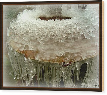 Boiling Ice Wood Print by Heidi Manly