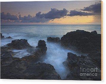 Boiling Sea Wood Print by Mike  Dawson