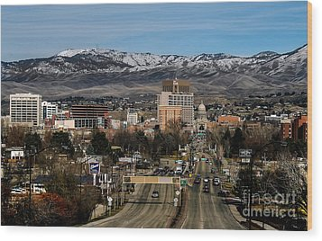 Boise Idaho Wood Print by Robert Bales