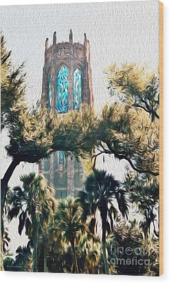 Bok Singing Canopy Tower Wood Print
