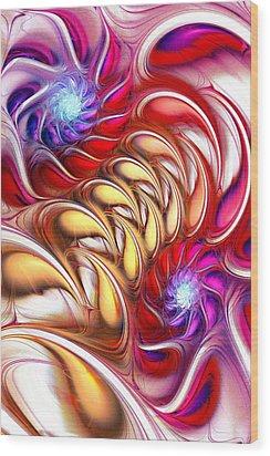 Bold Colors Wood Print by Anastasiya Malakhova