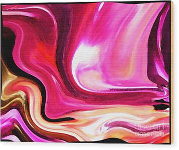 Bold Pink Abstract Wood Print by Carol Groenen