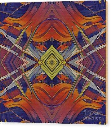 Boldness Of Color Wood Print by Deborah Benoit