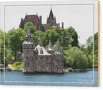 Boldt Castle And Powerhouse Wood Print by Rose Santuci-Sofranko