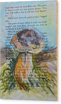 Boletus Edulis Wood Print by Beverley Harper Tinsley