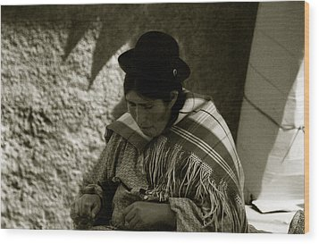 Bolivian Woman Wood Print by Amarildo Correa