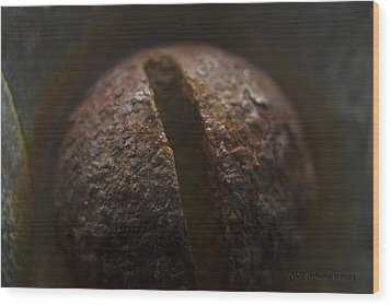 Wood Print featuring the photograph Bolted by WB Johnston