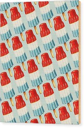 Bomb Pop Pattern Wood Print by Kelly Gilleran