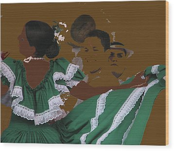 Wood Print featuring the photograph Bomba Dancers by Aurora Levins Morales