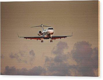 Bombardier Bd100 Wood Print by James David Phenicie